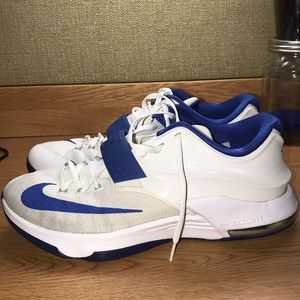 KD 7's, Size 10.5,  Blue and White